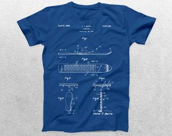 Snowboard Patent T-Shirt, Snowboard Blueprint,Patent Print T-Shirt, Sports Gift, Winter Sports, Snowboarding tee, Snowboarding p868