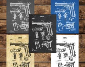 INSTANT DOWNLOAD - Automatic Firearm Art, Automatic Firearm Patent, Automatic Firearm Print, Automatic Firearm Poster, Gun art