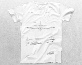 Airplane Patent T-Shirt, Airplane Blueprint, Patent Print T-Shirt, Vintage Aircraft Shirt, Aircraft T-Shirt, Pilot Gifts p361
