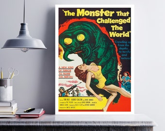 MOVIE poster vintage The Monster That Challenged The World Classic Horror space poster Poster Art Vintage Print Art Home Decor movie sp604