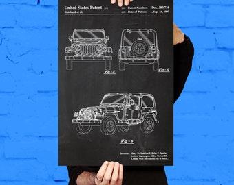 Jeep Art Poster, Jeep Patent, Jeep Print, Jeep Art, Jeep Decor, Jeep Wall Art, Jeep Blueprint p1127