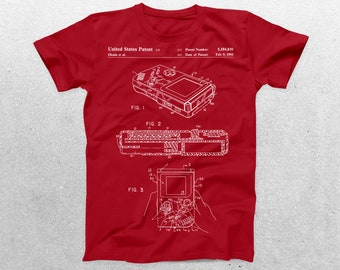 Gameboy Patent T-Shirt, Gameboy Blueprint, Patent Print T-Shirt, Gameboy Shirt, Gaming Gifts, Atari Game, Video Game Shirt p135