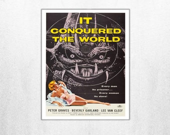 MOVIE poster vintage It Conquered The World Classic Horror space poster Poster Art Vintage Print Art Home Decor movie poster Sci Fi sp644