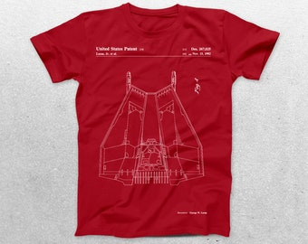 Star Wars Rebellion Ship Patent T-Shirt, Rebellion Ship Blueprint, Star Wars Patent Print T-Shirt, Star Wars T-Shirt, Star Wars Gifts, p949