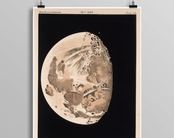 Moon Phases Poster - Moon Art - Moon Poster - Moon - Outer Space - Telescope - Astronomy - Moon Phases Art - Full Moon - Astronomy 0439