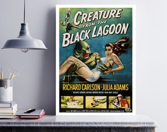 MOVIE poster  vintage creature from the black lagoon Classic Horror space poster Poster Art Vintage Print Art Home Decor movie poster sp602