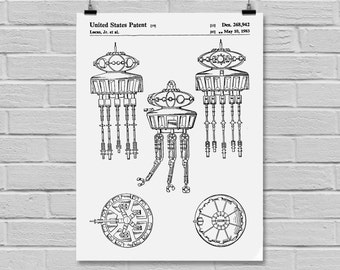 Star Wars Viper Probe Droid Star Wars Poster Star Wars Patent Star Wars Print Viper Probe Droid Black and white Viper Probe Droid p927