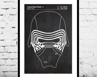 Star Wars Kylo ren Star Wars Poster Star Wars Patent Star Wars Print The Force Awakens p953
