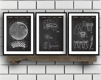 Basketball Patent, Basketball poster Set of THREE, Basketball Invention Patent, Basketball Poster, Basketball , Basketball Inventions SP244