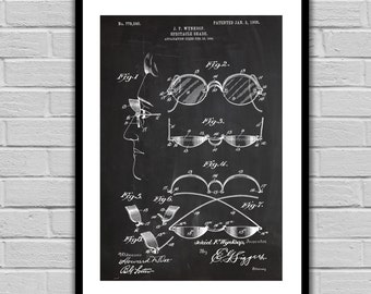 Vintage Sunglasses Patent Spectacle Shades Poster Spectacle Shades Blueprint Spectacle Shades Print Spectacle Shades Art sp1432
