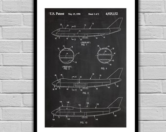 Airplane Patent Airplane Poster Airplane Blueprint  Airplane Print Airplane Art Airplane Decor p601