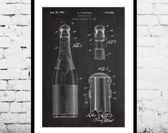 Bottle Closure Patent Bottle Closure Poster Bottle Closure Blueprint  Bottle Closure Print Bottle Closure Art Bottle Closure Decor p976
