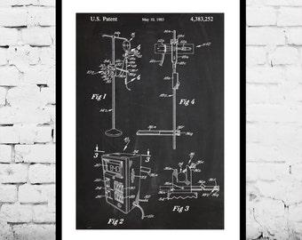 I.V. Pump Print I.V. Pump Poster Intravenous Pump Patent I.V. Pump Decor I.V. Wall Art I.V. Blueprint Medical Decor p619