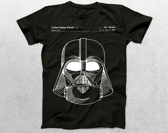 Star Wars Darth Vader Patent T-Shirt, Darth Vader Blueprint, Star Wars Patent Print T-Shirt, Star Wars T-Shirt, Star Wars Gifts, p952