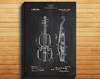 CANVAS  Violin ArtViolin PatentViolin PrintViolin Poster Violin Wall Art Violin Decor Violin Blueprint Instrument Art p329