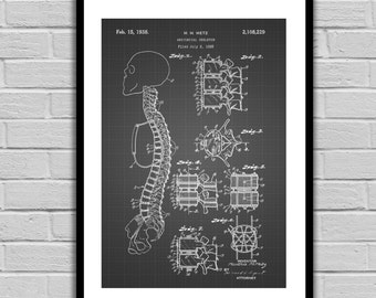 Anatomical Skeleton Patent Anatomical Skeleton Poster Anatomical Skeleton Blueprint  Anatomical Skeleton Print Anatomical Skeleton Art p445