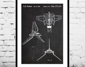 Imperial Shuttle Poster Imperial Shuttle Patent Imperial Shuttle Print Imperial Shuttle Art Imperial Shuttle Decor p915