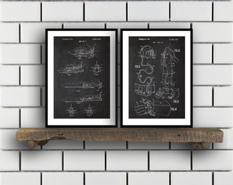 Space Patents Set of 2 Prints Space Prints Space Posters Space Blueprints Space Art Space Wall Art Space Prints Space Art Sp329