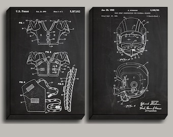 CANVAS Football Uniform Football Patent Football Art Football Wall Art Football Helmet Patent Football Shoulder Pads Sports Art sp496