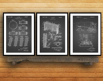 Ice Hockey Patent Poster, Group of 3, Hockey puck, Hockey net, Zamboni, Hockey Puck, Hockey Wall Art, Hockey wall decor, NHL fan art SP02