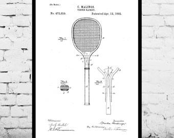 Tennis Racket Print, Tennis Racket Patent, Tennis Racket Poster, Tennis Racket Blueprint, Tennis Racket Art, Tennis Racket Decor p294