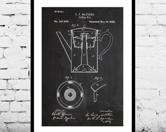 Coffee Pot Patent Coffee Pot Poster Coffee Pot Print Coffee Pot Art Coffee Pot Decor Coffee Pot Blueprint p083