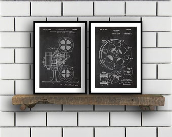 Motion Picture Patent Prints Cinema Set of TWO vintage Cinema Invention Patent Cinema Poster Cinema Print Cinema Cinema SP271