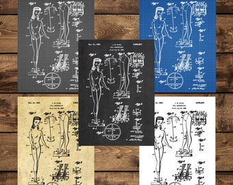 INSTANT DOWNLOAD -Barbie Doll Patent, Barbie Doll Poster, Barbie Doll Print, Barbie Doll Art, Barbie Doll Decor, Barbie Doll Blueprint