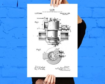 Carburetor Poster, Carburetor Patent, Carburetor Print, Carburetor Art, Carburetor Blueprint, Carburetor Wall Art, Car Decor p1096