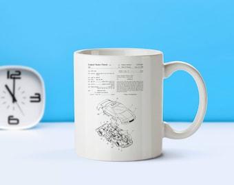 Toy Car patent mug  coffee mug  coffee lover  patent art  patent mug Kid's Room Decor Retro Toys Toy Collectible Toy MugM3