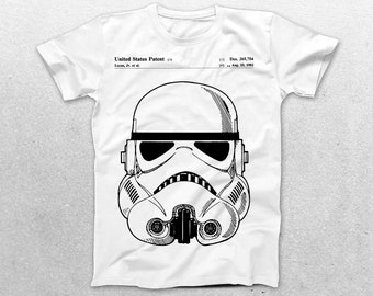 Stormtrooper Patent T-Shirt, Stormtrooper Blueprint, Star Wars Patent Print T-Shirt, Star Wars T-Shirt, Star Wars Gifts, p1425