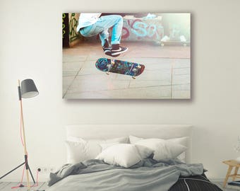 Canvas print framed poster decor People Photography Modern Art Urban Art Landscape Photography City  Home Decor Skateboard art Wall PH073