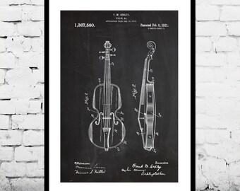 Violin Poster, Violin Patent, Violin Print, Violin Art, Violin Decor, Violin Wall Art, Violin Blueprint, String Instrument Decor p329