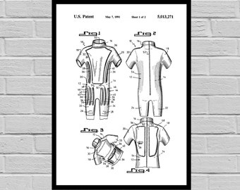 Surfing Related Patent Surfing Invention Patent Wetsuit Poster Surfboard Print Surf Patent Surf Inventions SP139