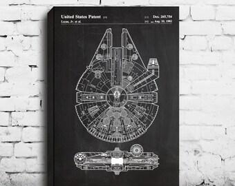 CANVAS Star Wars patentMillennium FalconStar Wars Poster Millennium Falcon Star Wars Patent Patent art patent Millennium Falcon p346