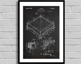 Fight Ring Patent, Fight Ring Patent Poster, Fight Ring Blueprint, Fight Ring Print, Boxing, Fighting, Wrestling, Sports Decor,Vintage p777