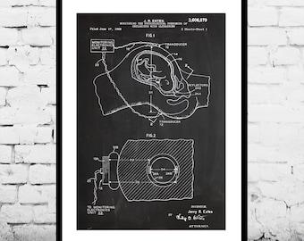 Fetal Monitor Patent Fetal Monitor Poster Fetal Monitor Blueprint Fetal Monitor Print Fetal Monitor Art Fetal Monitor Decor p545