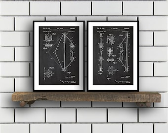 Archery Patent Archery poster Set of TWO bow and arrow Invention Patent arrow Poster bow Print archery Inventions SP227