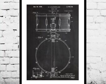 Snare Drum Print, Snare Drum Poster, Snare Drum Art, Snare Drum Blueprint, Snare Drum Wall Art, Snare Dum Decor, Drum Art, Percussion p864