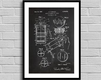 French Press Patent Print Art Patent Coffee Wall Art Poster Patent Print Wall Art Poster decor Coffee Patent art gift for him p579