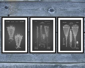 Lacrosse Poster - 3 PACK,  Lacrosse Patent, Lacrosse Prints, Lacrosse Gifts, Lacrosse Art, Lacrosse Wall Decor, Lacrosse Wall Art SP526