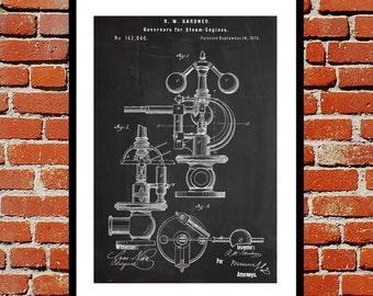 Steam Engine Patent Steam Engine Poster Steam Engine Blueprint  Steam Engine Print Steam Engine Art Steam Engine Decor p279