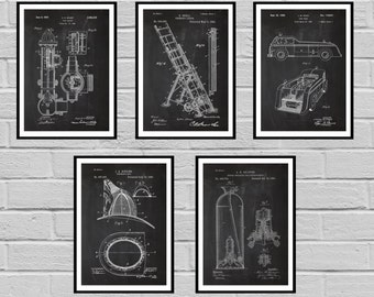 Firefighter Patents Firefighter Poster Firefighter Art Firefighter Decor Firefighter Wall Art Gift Firefighter gift sp510