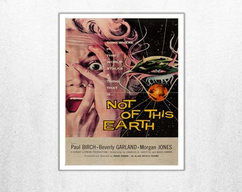 MOVIE poster vintage Not Of This Earth Classic Horror space poster Poster Art Vintage Print Art Home Decor movie poster art Sci Fi sp621