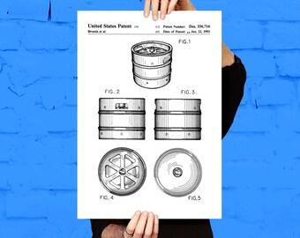 Beer Keg Poster Brewing Beer Patent Brewing Beer Poster Brewing Beer Print Brewing Beer Ale Decor Beer Poster Beer and Ale Decor p1231
