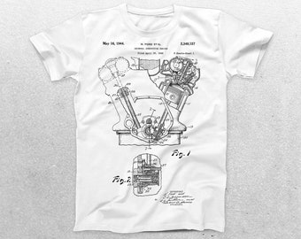 Internal Combustion Engine Patent T-Shirt, Ford Blueprint, Patent Print T-Shirt, Mechanic Shirt, Mechanic Gift, Vintage Art p20