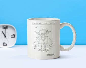Yoda Star Wars patent mug  coffee mug  coffee lover  patent art  patent mug  Star Wars YodaM111