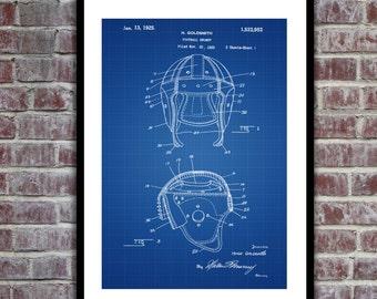 Football Helmet Patent, Football Helmet Poster, Football Helmet Print, Football Helmet Art, Football Helmet Decor p131