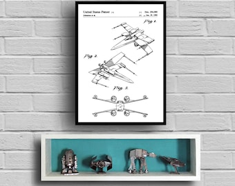 Star Wars X-wing Star Wars Poster Star Wars Patent Star Wars Print X-wing X-wing poster Black and white X-wing art p943