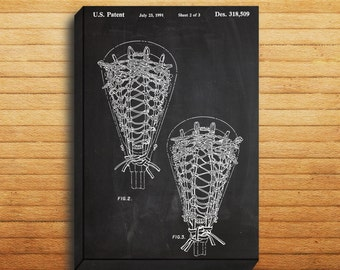CANVAS  Lacrosse Stick Art Lacrosse Stick Print Lacrosse Stick Patent Lacrosse Stick Decor Lacrosse Stick Wall Art Lacrosse Gifts p013